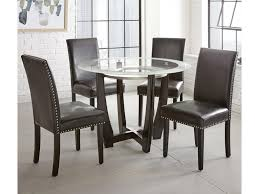 Steve Silver Verano 5pc Contemporary 45 Round Glass Top Dining