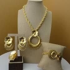 Latest Locket Set Designs In Gold Yuminglai 2019 African Jewelry 24k Dubai Gold Jewellery Sets