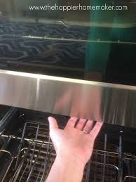 how to clean inside oven glass