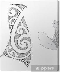 Obraz Maori Styl Tetování Design Se Hodí Pro Předloktí Na Plátně