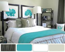 turquoise and grey bedroom