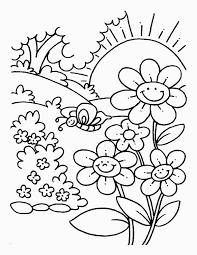 Spring Coloring Pages 2018 Dr Odd For Spring Flower Coloring Pages