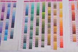 Diy Paint Color Chart Zooya 5d Diy Diamond Painting Color Chart Square Round