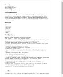 Resume Templates: Assisted Living Executive Director
