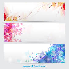 free banner backgrounds floral seasons background banners vector free download