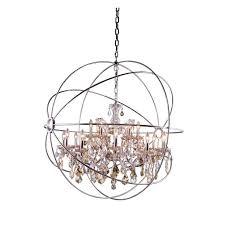 furniture wonderful brushed nickel crystal chandelier 13 polished elegant lighting chandeliers 1130g43pn gt rc 64 1000