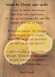 Warum Die Zitronen Sauer Wurden Ein Gedicht Von Heinz Ehrhardt