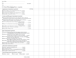 wine rating sheet