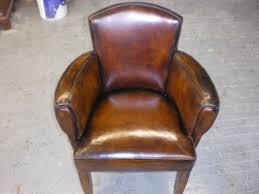 art deco period original leather distressed after