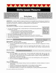 Experience Based Resume Skills Resume Format Awesome Skill Based Resume Template 18