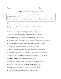 Preposition Worksheets For Grade 4 Worksheets for all | Download ...