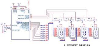 how to interface 7seg pic16f877a pic development board circuit diagram to interface 7 segment pic16f877a