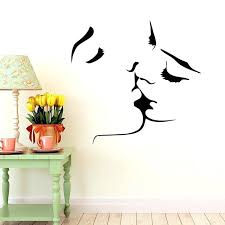 face kiss couple wedding wall art sticker decal home decoration decor mural bedroom decals kissing stickers for walls girl room