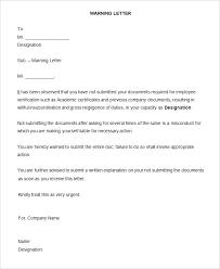 Employee Warning Letters Template Employee Warning Letter Template For Staff Misbehavior Formal