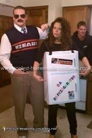 refrigerator costume. homemade ditka \u0026 refrigerator perry couples costume 0