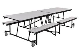 grey nebula laminate cafeteria lunch room break room 12ft mobile fixed bench units table