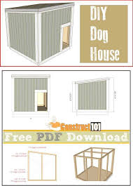 lean to dog house plans inspirational 60 best images about construct101 on