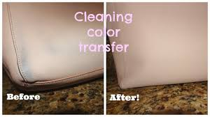 easiest way to clean color transfer off saffiano leather