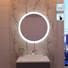 Round Makeup Light Elegant 600x600mm Round Illuminated Led Light Bathroom