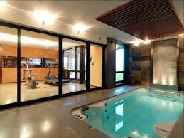 basement gym ideas. Pool In Basement Gym Ideas Rustic With Glass Wall Traditional  Cleaning Supplies Lap