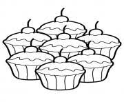 Small Picture cupcake silhouette 8 Coloring pages Printable