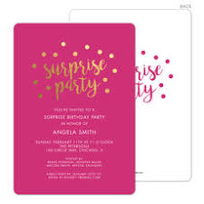 surprise birthday party invite surprise party invitations the stationery studio
