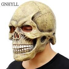 GNHYLL <b>Scary Skull Mask</b> Full Head Realistic Latex Party Mask ...