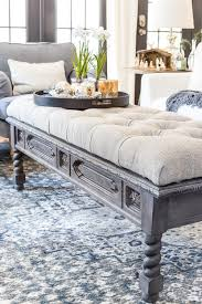 diy ottoman bench from a repurposed coffee table blesser house tufted as 2