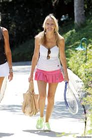 Amateurs in tennis skirts