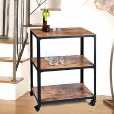 metal and wood shelves mind reader charm 3 tier wood and metal utility cart reviews metal and wood wall shelving unit