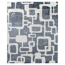 exquisite rugs koda modern classic art deco pattern cloudy blue bamboo silk rug 8