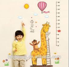 Kids Growth Chart Vinyl Decal Wall Sticker Children Wonderland Growth Chart Height Measure Kids Wall Sticker Buy Kids 3d Wall Stickers Wall Growth