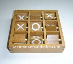 Wooden Naughts And Crosses Game Tic Tac Toe Wooden Game Made Of Bamboo Noughts And Crosses Game 24