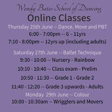 Wendy Bates School of Dancing - Following the Government's announcement  today, the studio will remain closed. We are still providing free online  classes. If you're interested in taking part, please get in