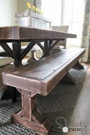 diy dining table bench benches for my shanty 2 chic 8 new diy