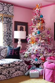 View in gallery Pink coupled with some Holiday cheer! [Design: Tobi Fairley  Interior Design]