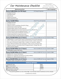 truck maintenance checklist template - lareal.co
