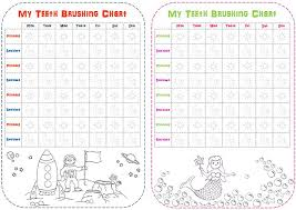 Free Printable Tooth Brushing Chart Childrens Teeth Brushing Reward Charts Free Printables