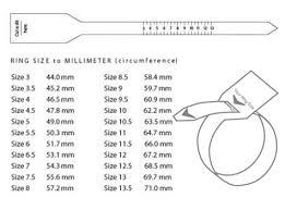 Ring Size Chart Online How Is Ring Size Determined The Rings