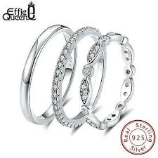 <b>Effie Queen</b> Genuine <b>925</b> Sterling Silver Ring for Men Women ...