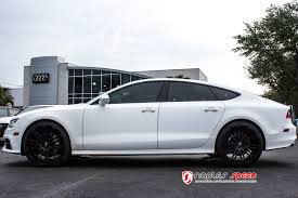 audi a7 blacked out. wrapped matte white audi a7 blacked out