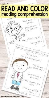 read color reading prehension worksheets for grade 1 and kindergarten
