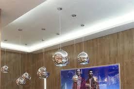modern copper sliver gold shade copper inside mirror chandelier light e27 bulb led pendant lamp glass ball
