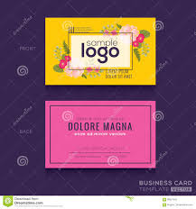 Cute Floral Pattern Business Card Name Card Design Stock Vector ...
