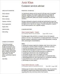 8+ Sample Customer Service Resumes | Sample Templates