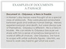 the body paragraphs writing the gateway essay the body paragraphs  examples of documents a passage document a odysseus a hero in trouble in homer s