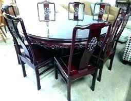 round dining table for 8. Delighful Table Round Table 8 Chairs Dining Room For  Rosewood Mahogany  In