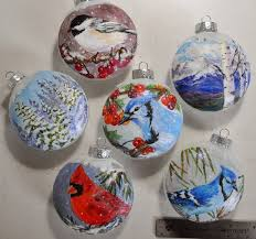 one of a kind hand painted glass ornaments
