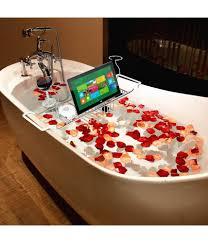 gthunder bathtub caddy tray over bath tub racks shower organizer with adjule book holder wine glass