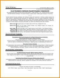 Radar Repair Sample Resume Podarki Co